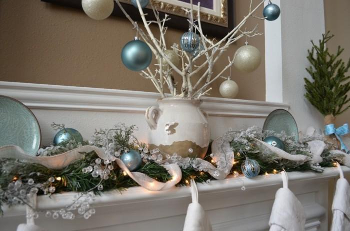 decoración chimenea tonos grises