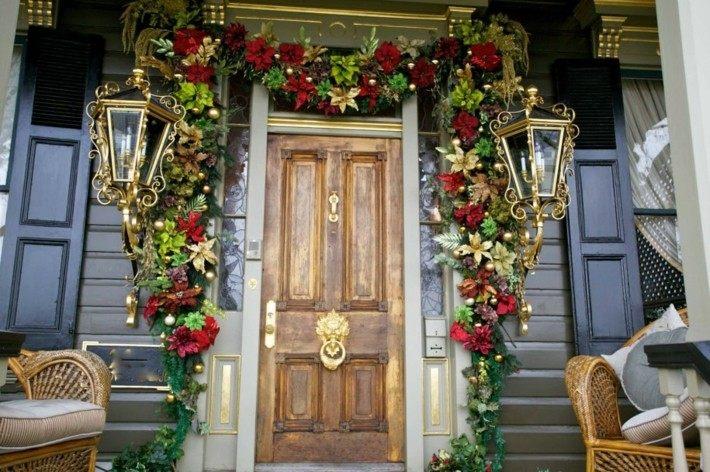 decoración entrada guirnalda navidad