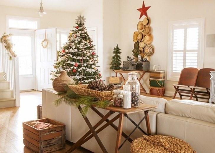 decoración estilo nordico navidad