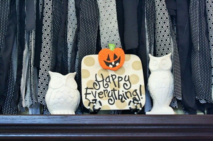 decoración halloween éstilo minimalista