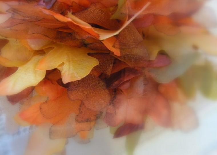 decorar hojas secas tela