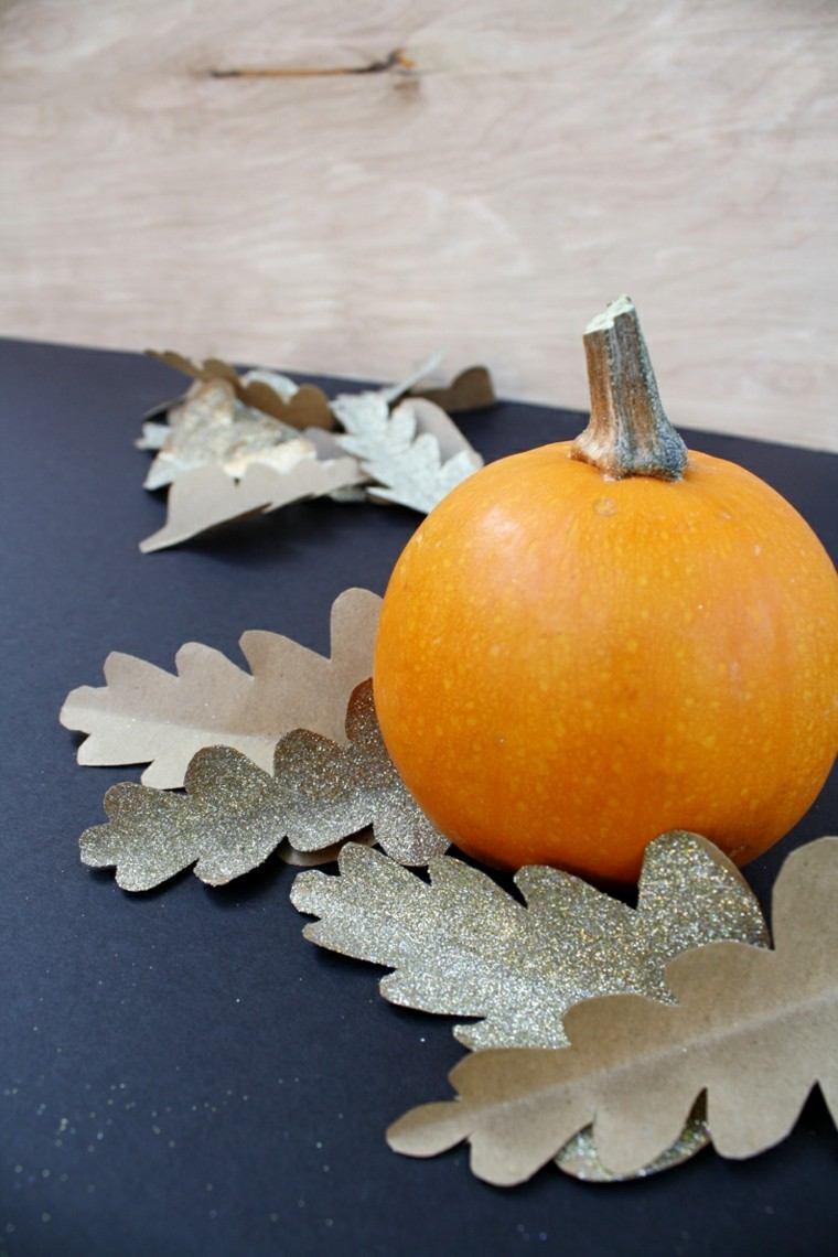 decorar hojas otoño falsas