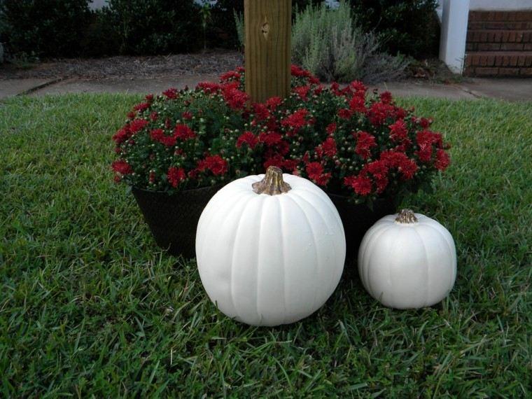 decoración jardin calabaza grande