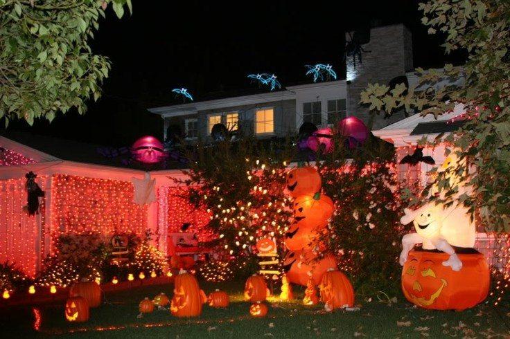 Paisajes oto ales en el jard n 50 ideas de decoraci n - Jardines decorados para fiestas ...