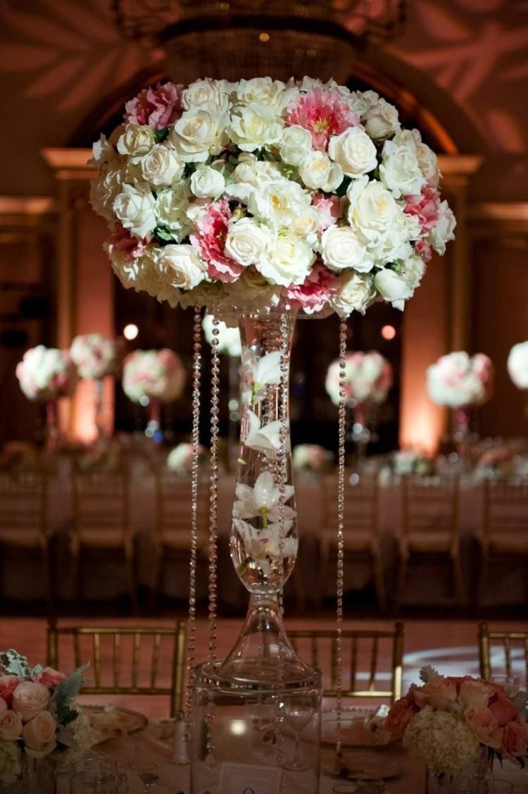 decoración lujosa jarron flores