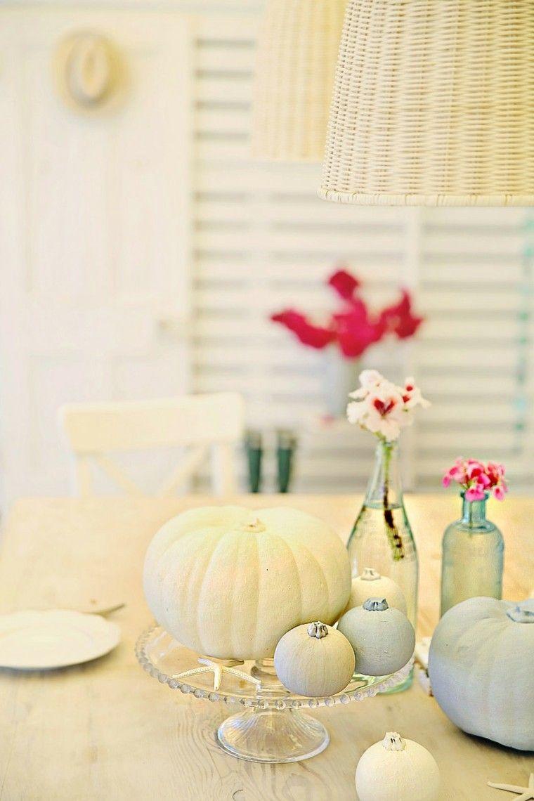 Calabazas blancas para tu decoraci n de oto o - Decoracion de calabazas ...