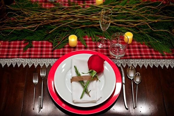 decorar mea rosa plato