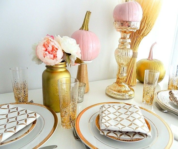 decorar mesa adornos otoño