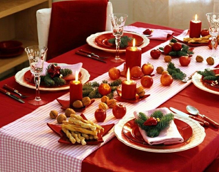 Cenas de navidad con encanto y glamur 50 ideas - Mesas para navidad ...