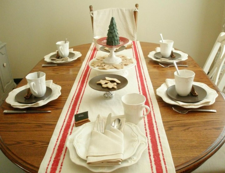 decorar mesa desayuno navidad