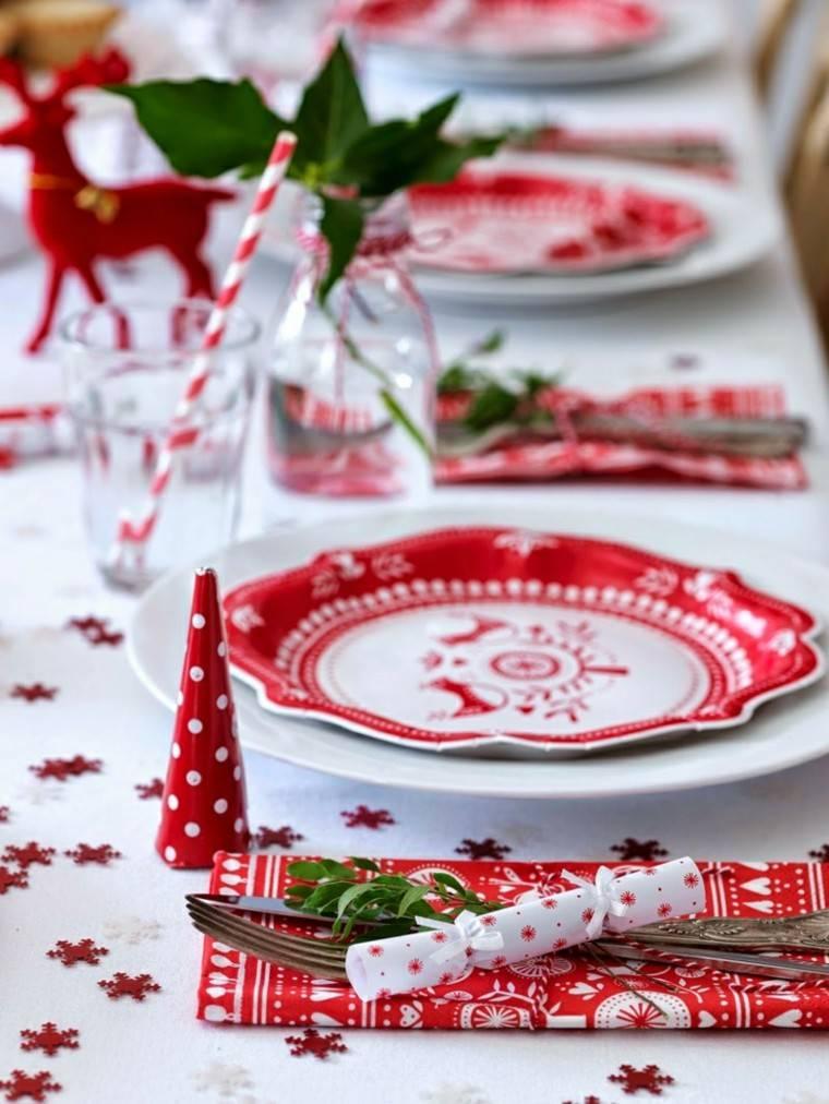 decorar mesa vajilla navidad