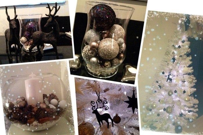 decoración navidad blanco negro
