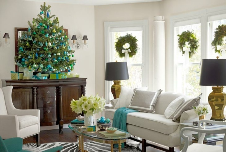 deco navideña color turquesa