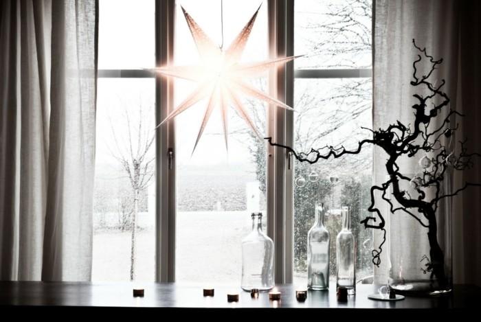 decoración navideña estrella mesa