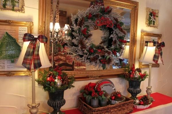 decoración navidad lazos lamparas