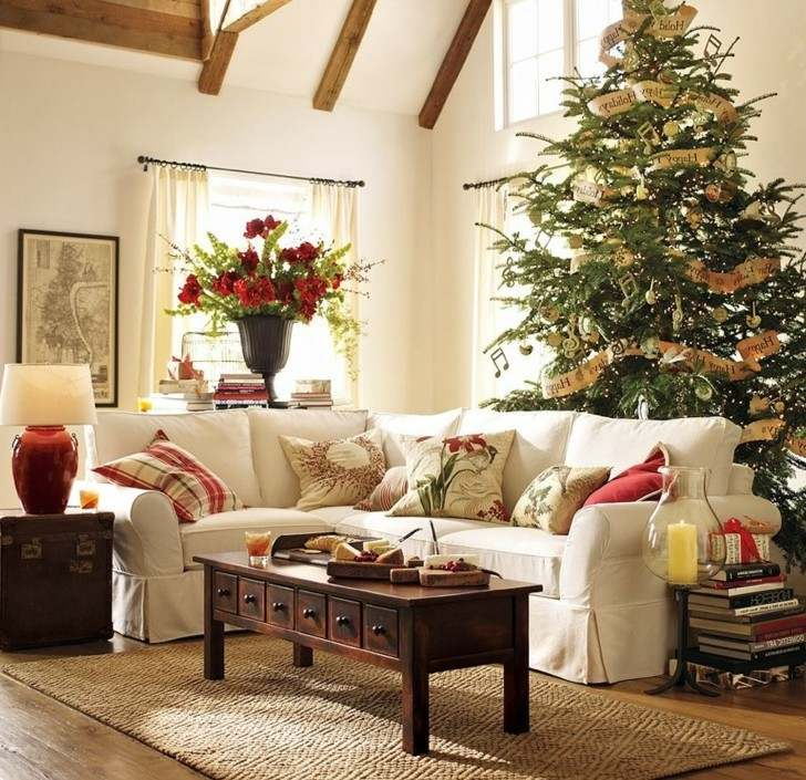 Como decorar un salon para la navidad 50 ideas - Decoracion navidena moderna ...