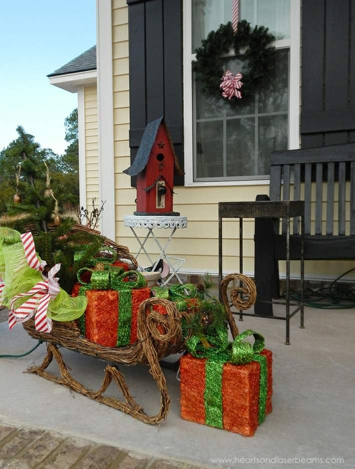 decoración navidad porches entrada