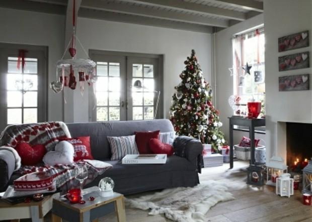 decoracion navidad color gris