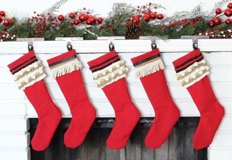 decoracion navidad color rojo blanco