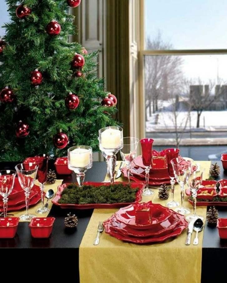 decoración navidad rojo verde