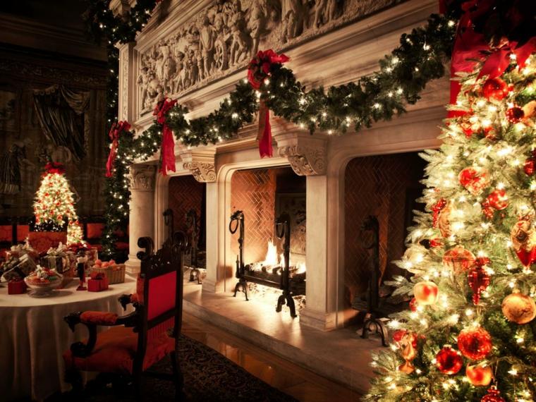 decoración navidad salon lujoso