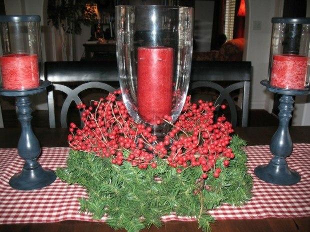 decoración navidad candelabros grises