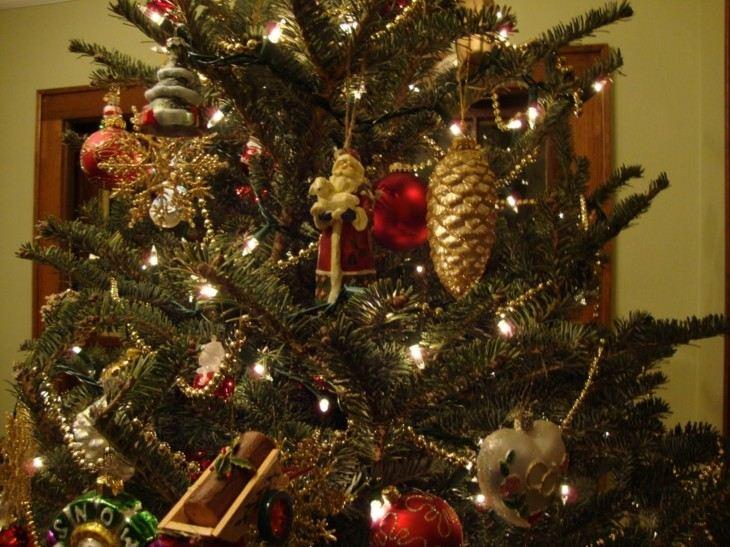 decorarción navidad arboles retro