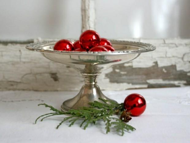 deco navidad fuente plata