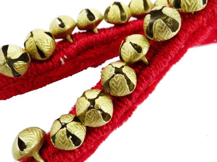 deco navidad cascabeles campanas doradas