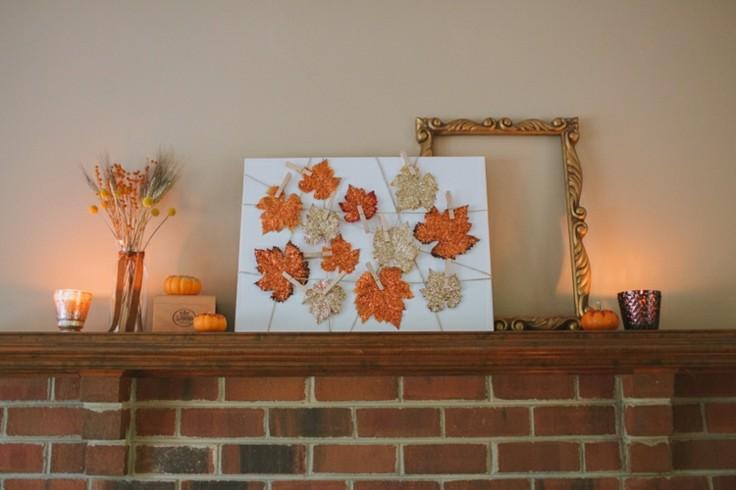 decoracion nordica hojas secas