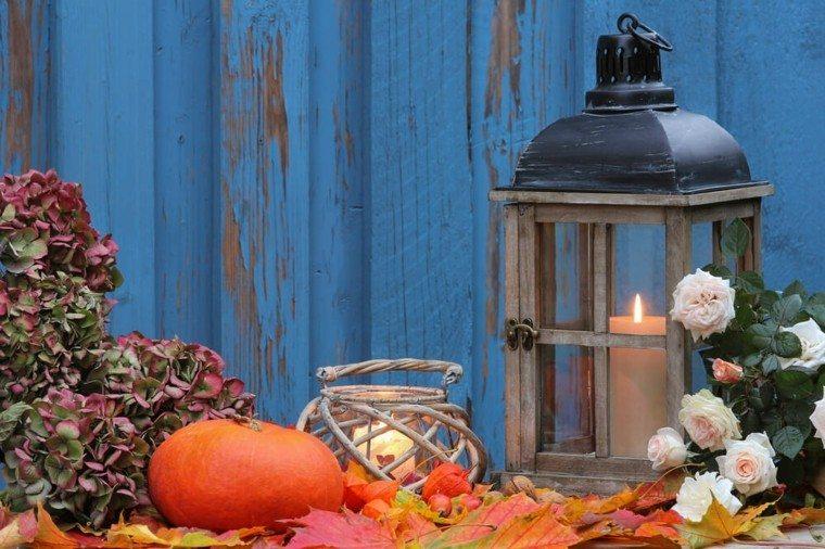 decoración otoño hojas secas