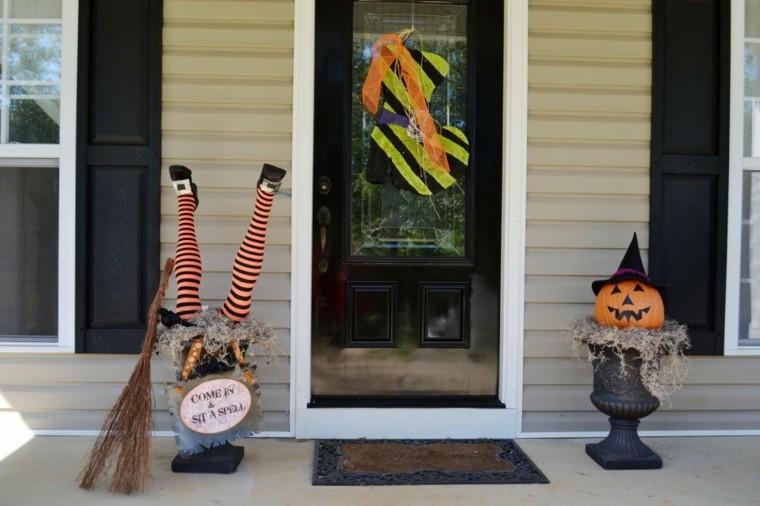 divertida decoración otoño puerta