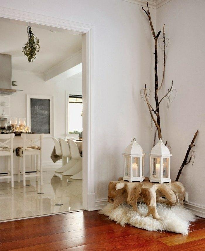 decoración ramas madera deriva