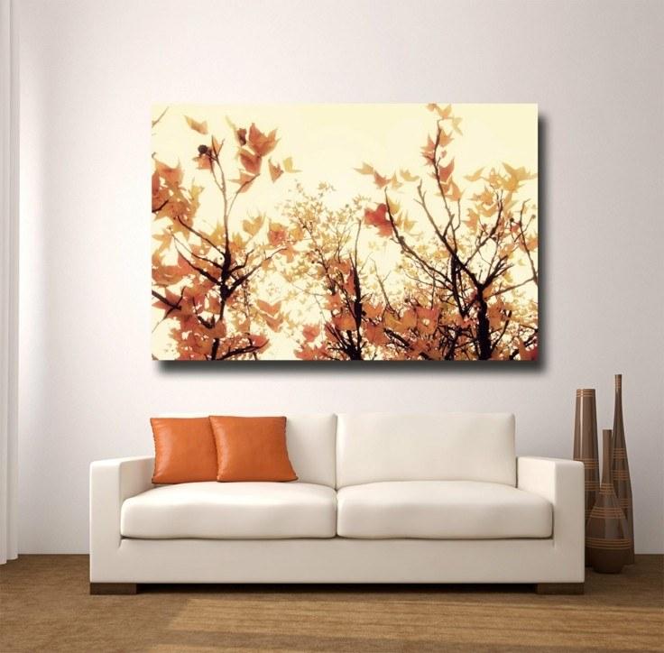 decoración salon cuadro otoño