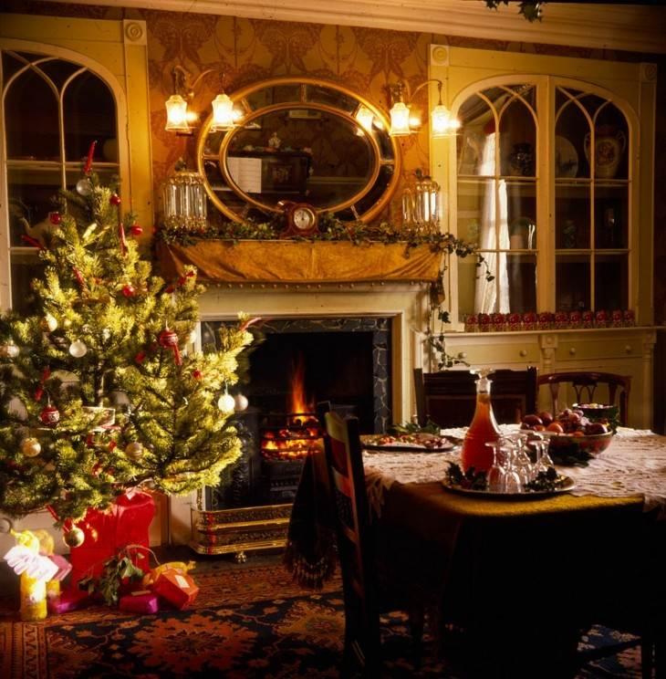 decoración salon navidad retro