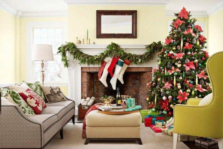 Motivos navide os para decorar la chimenea m s de 50 ideas - Como hacer motivos navidenos ...