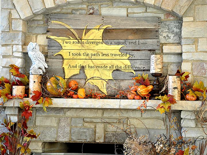 decoración señales jardin otoño