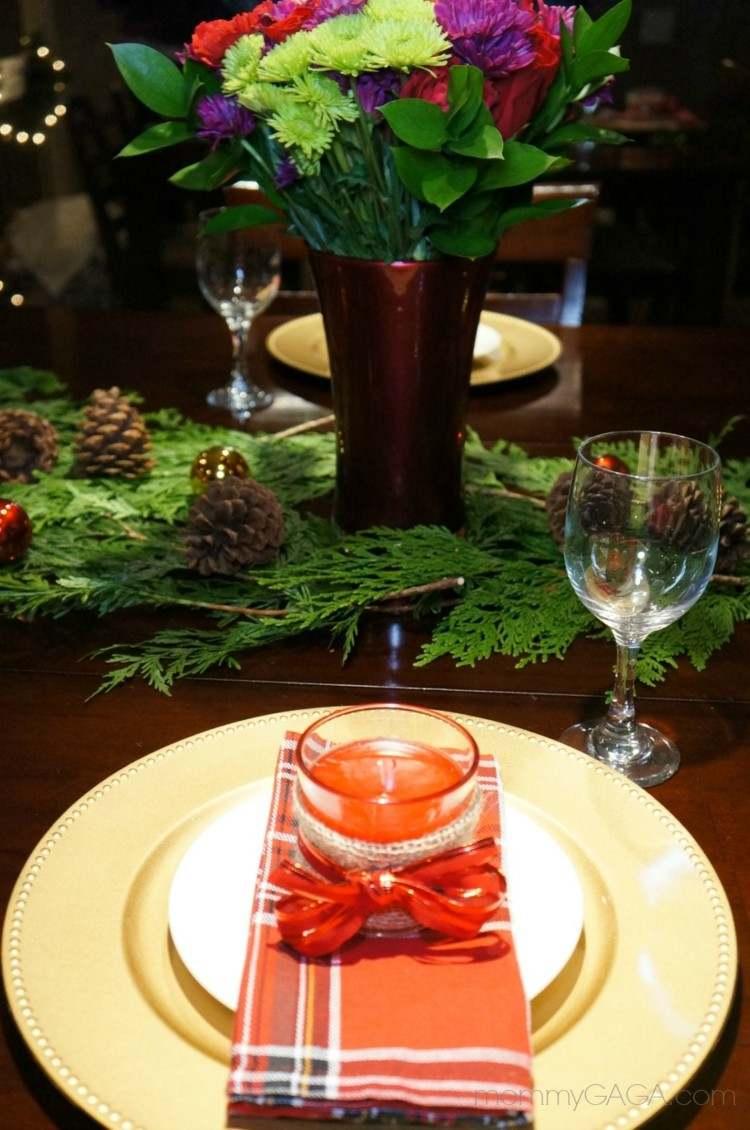 decoración sencilla cena navidad