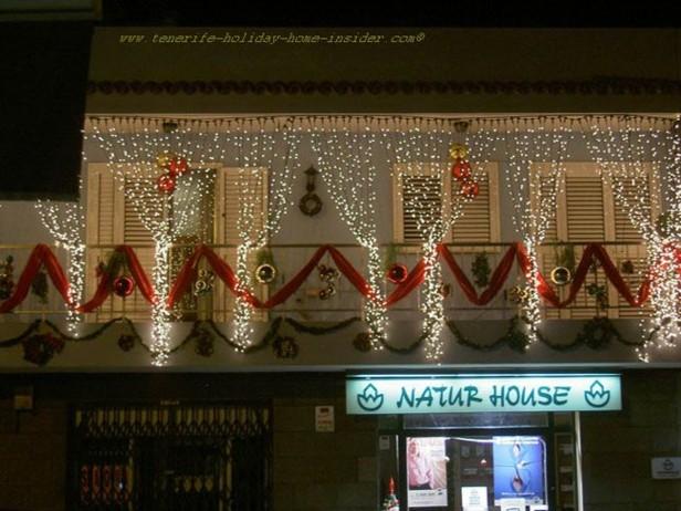 decoración terraza muchas luces
