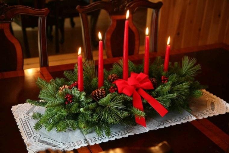 decoración centro mesa velas