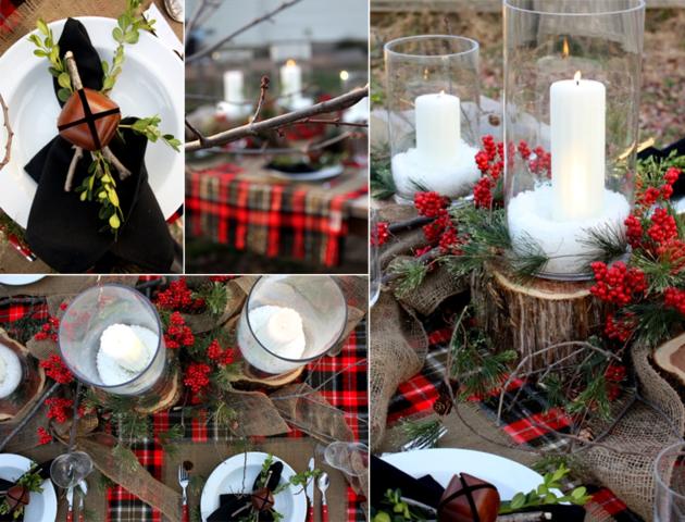Mesas de jardin con decoraci n navide a 25 ideas - Decoracion navidena para jardines ...