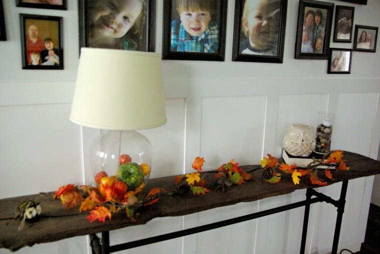decoración otoño salón fotos