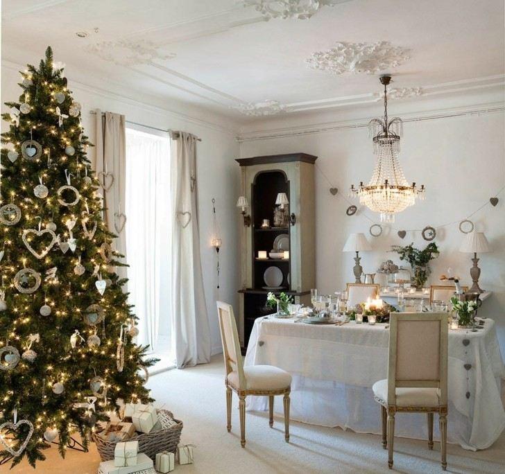 Como decorar un salon para la navidad 50 ideas for Decoracion mesa comedor
