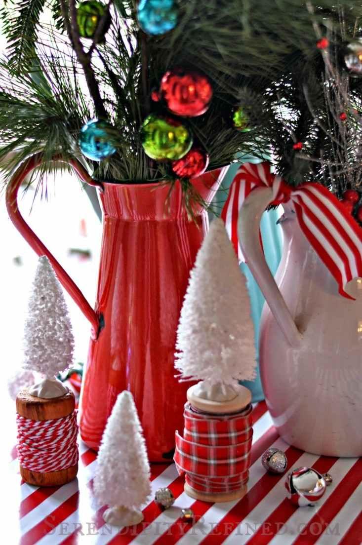 deco mesa navidad campanas cascabeles
