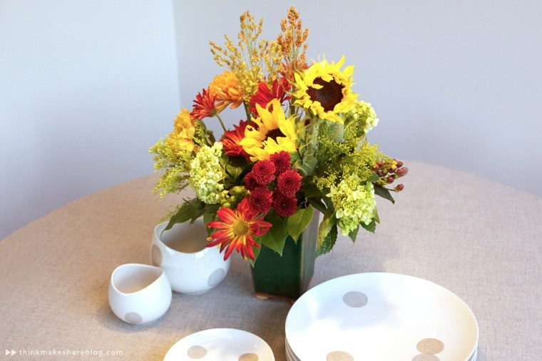 decorar mesa flores girasoles
