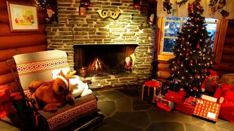 decoracion chimenea navidad adorno decorativo trompas ideas