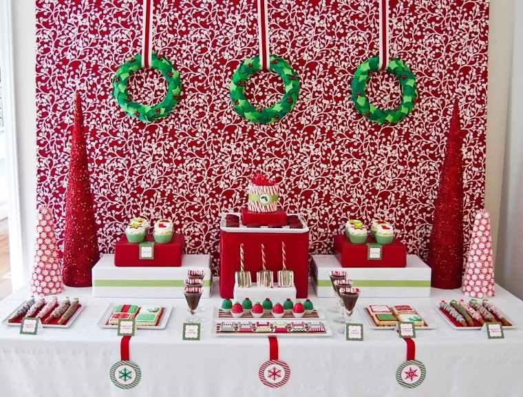 decoracion de navidad colores vibrantes decorar casa guirnaldas verdes ideas