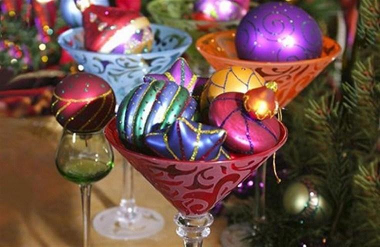 decoracion de navidad colores vibrantes decorar casa mesa ideas
