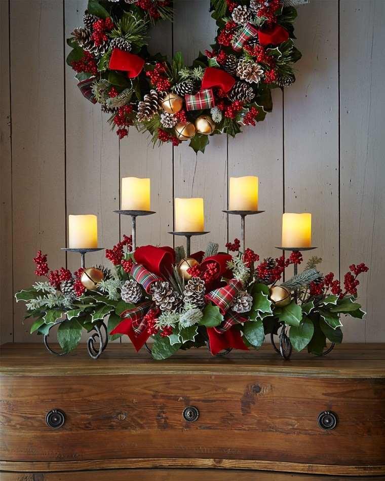 decoracion de navidad colores vibrantes decorar casa velas guirnalda ideas