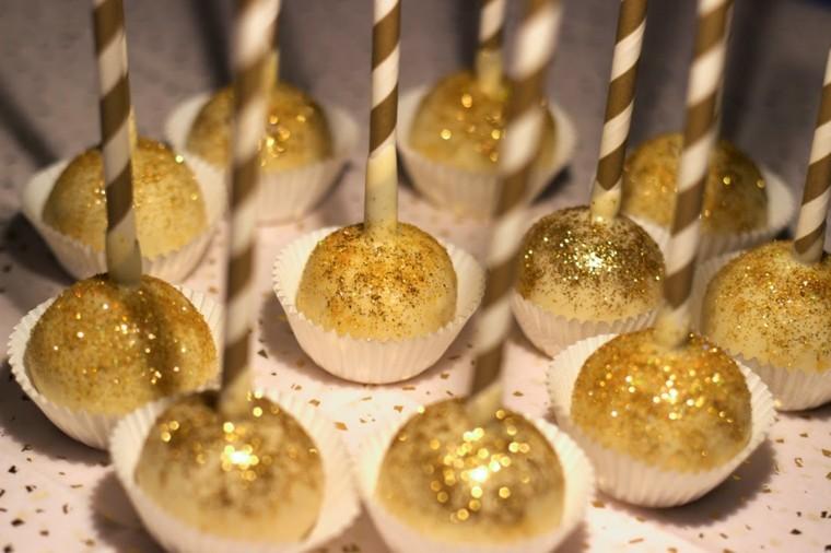 decoracion de navidad brillante oro caramelos navidad ideas